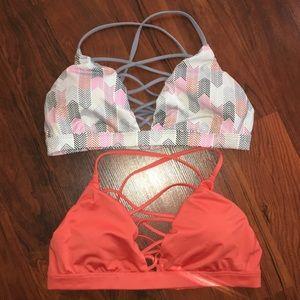 TWO Victoria's Secret Spirt Sports Bra Bundle